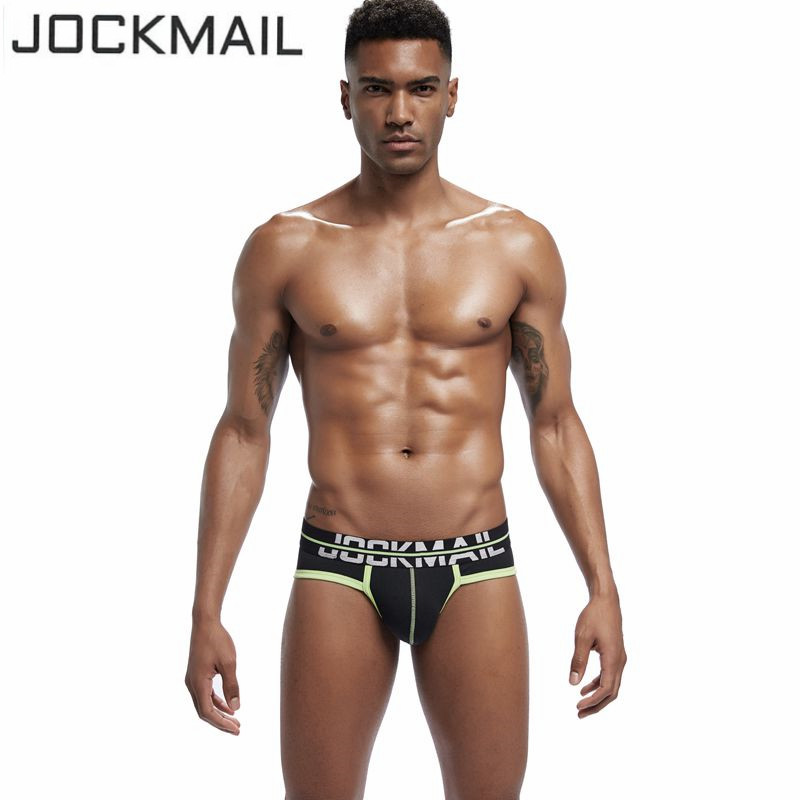 JOCKMAIL Brand Men Underwear Briefs Sexy U Convex penis Cotton Cueca Gay Pants Male panties Breathable calzoncillos hombre slip