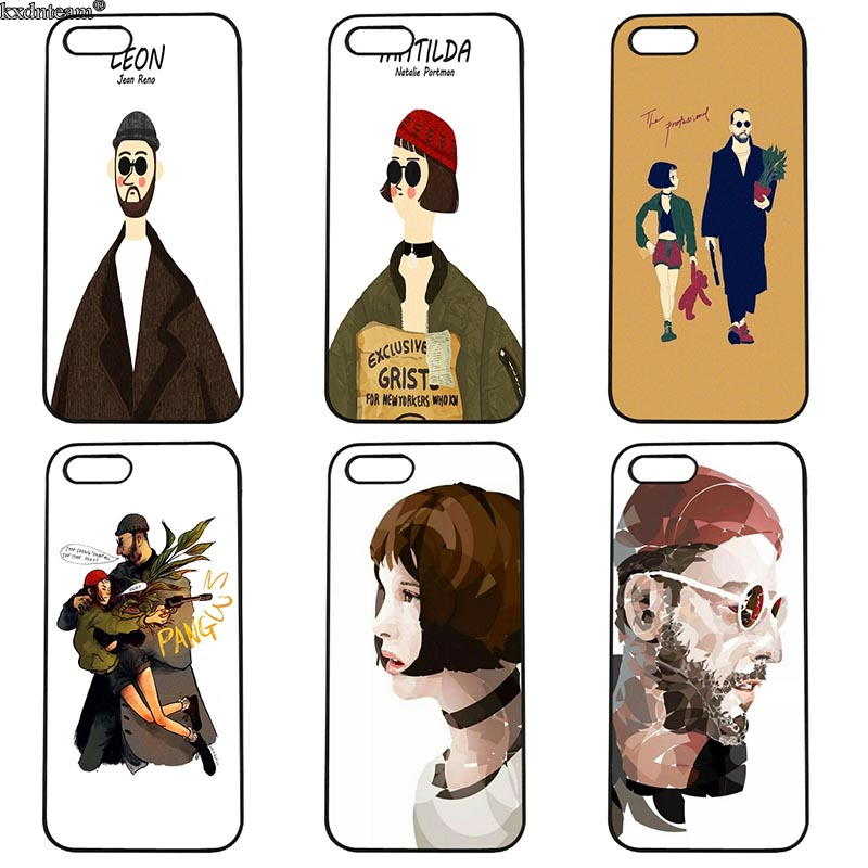 Hot Leon The Professional Mathilda Film Phone Case Hard Cover Fitted for iphone 8 7 6 6S Plus X 5S 5C 5 SE 4 4S iPod Touch 4 5 6