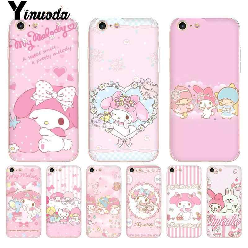Yinuoda Lucu My Melody Little Twin Stars Coque Shell Ponsel Case untuk iPhone 8 7 6 6S Plus X 5 5S SE 5C 4 4S11 11pro 11 Promax