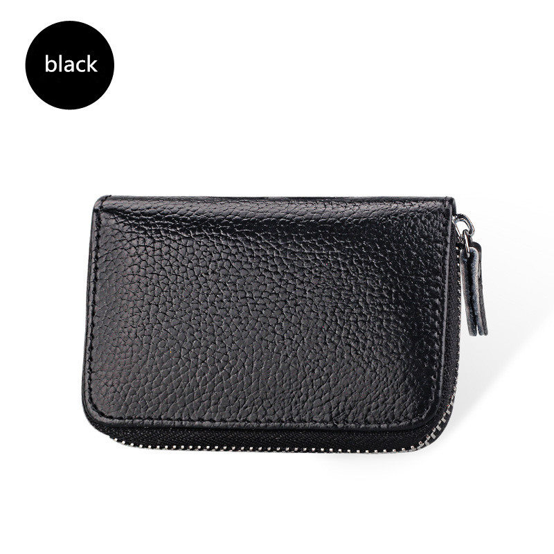 Purse Men & Women Card Case Leather Mini Doka Student Wallet High Quality Leather Credit Card Storage Wisecol