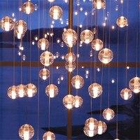 Vintage Crystal Ball Bocci Pendant Light for Stair Foyer Bar Dining Room Loft Crystal Ball Illuminare Suspension Lamp 2348