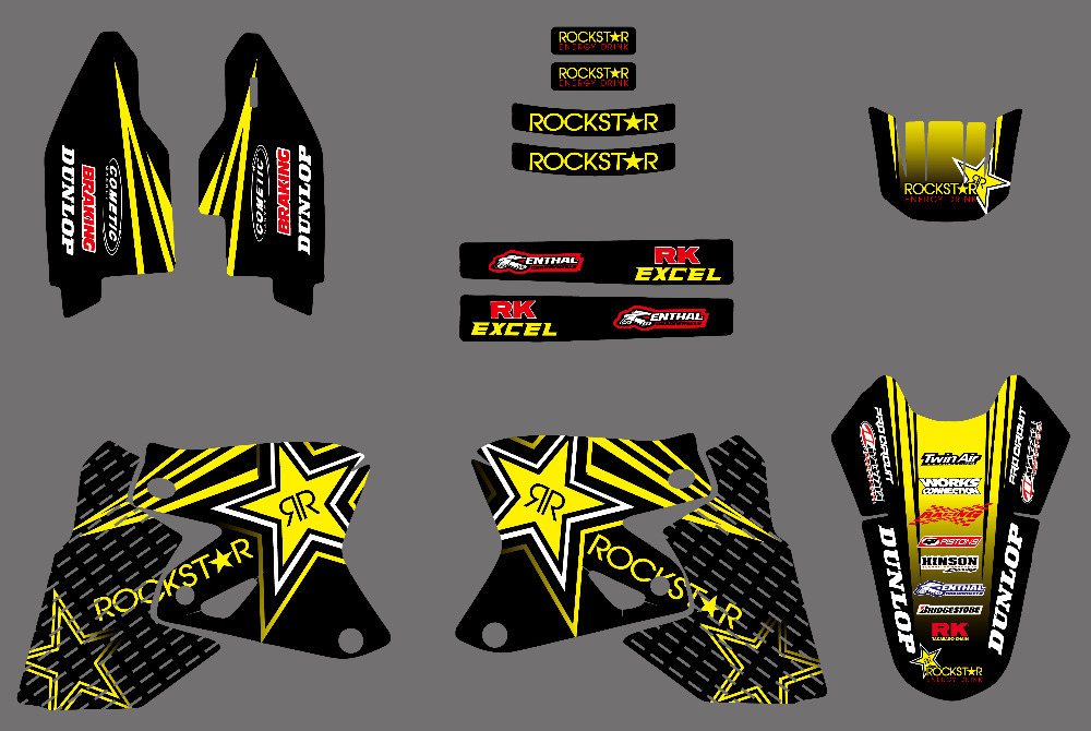 GraphicsDECALS Stickers FOR Suzuki DRZ400 DR Z400 DRZ400E DRZ400SM Also Fit Kawasaki KLX400 KLX 400 ALL