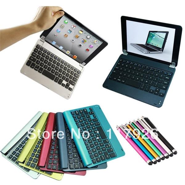 Go Pro wireless bluetooth keyboard case mini pc keyboard aluminum case keyboard for Apple iPad Mini Free Shipping+Free pen