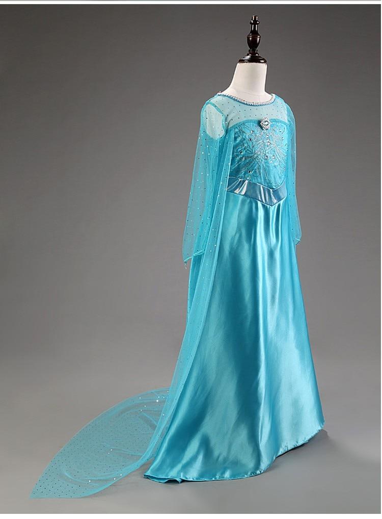 HTB1NPhimMvD8KJjy0Flq6ygBFXaH 2019 Elsa Dresses For Girls Princess Anna Elsa Costumes Party Cosplay Elza Vestidos Hair Accessory Set Children Girls Clothing