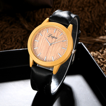 A Ausuky Women Watches Sport Watch Fashion Leather Wooden Dail Wrist Watch for Women Ladies Luxury Dress Quartz Watch Clock