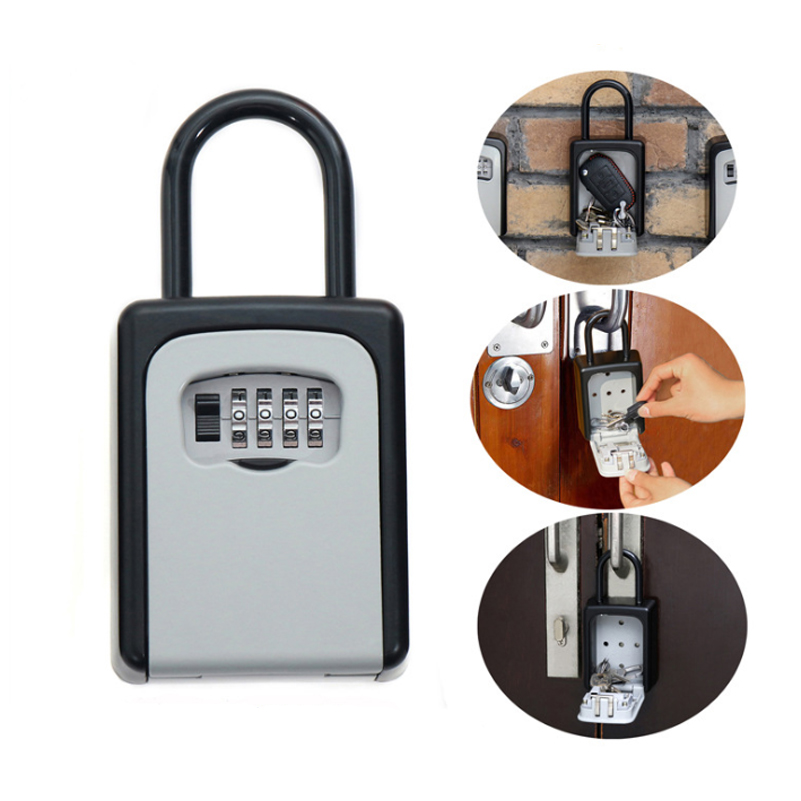 Safty Key Lock Box Set-Your-Own Combination Portable Aluminium Hot Selling Alloy Key Safe Box Secure Box Security Key Holder