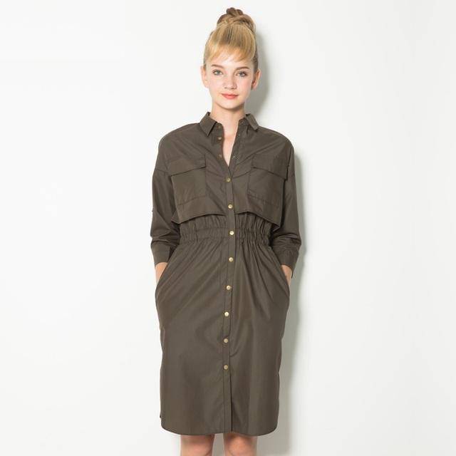 Primavera de moda de nova mulheres trench único breasted midi comprimento magro waisat casual trench exteriores SD3059