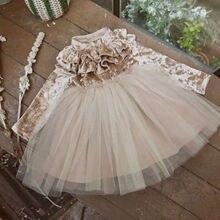 2018 New Brand Princess Kids Baby Girls Dress Velvet Fleece