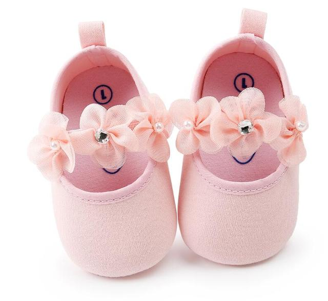 a75e31cb3ff 0-18M Toddler Baby Girl Soft sole Princess Shoes lovely flower style Infant  Prewalker Newborn Baby Shoes for girls