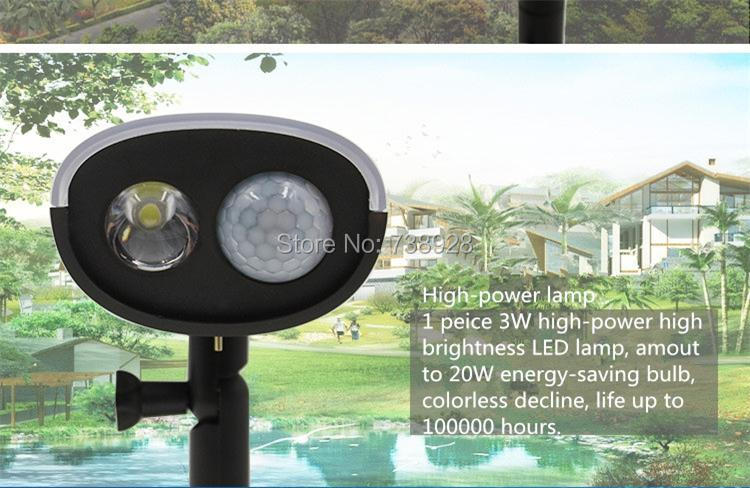 3W LED Solar Lamp Outdoor PIR Motion Sensor Solar Lights Waterproof Garden Emergency Security Spotlight Wall Mount Night Lights 3