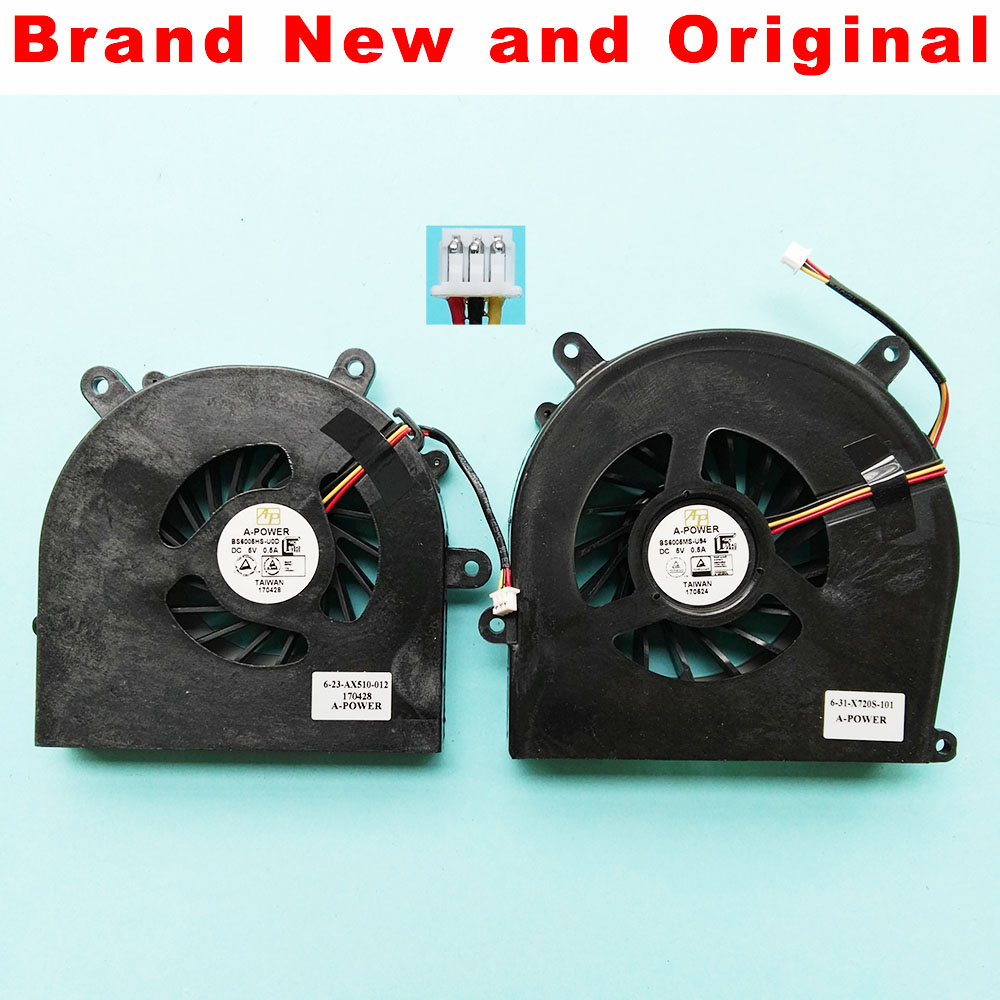 New for Sager NP8130 NP8150 NP8170 NP8230 NP8235 NP8250 CPU Cooling Fan