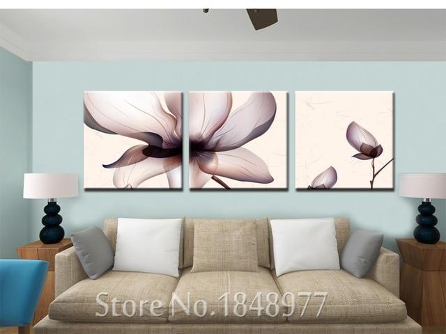 Panles muur art transparante magnolia bloem foto moderne thuis