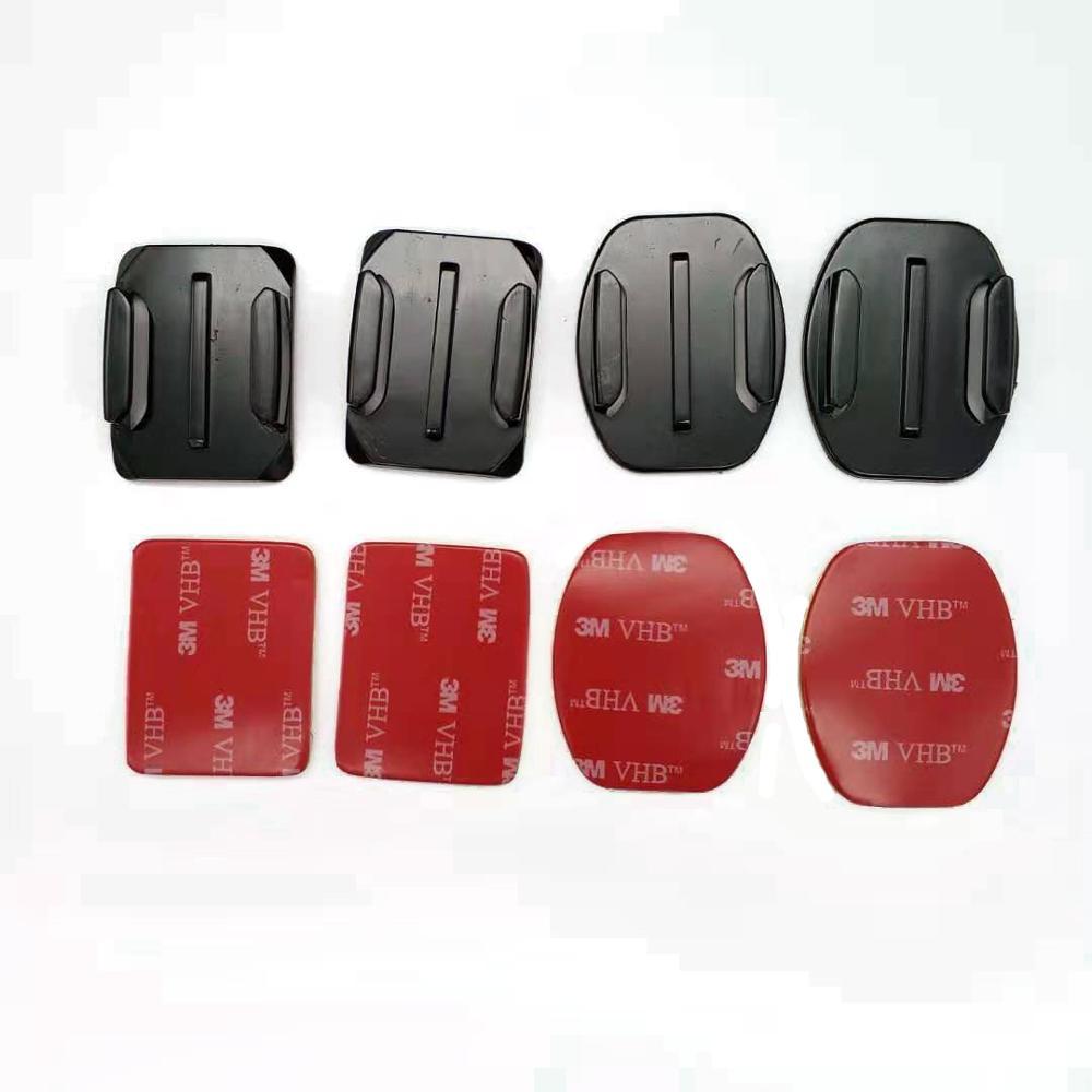 Перейти Pro аксессуары плоские изогнутые крепления клей Pad шлем крепление для Go Pro и 7 6 5 4 3 SJ4000 камер Sj8 про 4К Йи Джи Осмо действий камеры