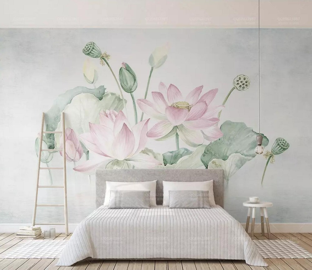 [Self-Adhesive] 3D Dreamy Lotus Pond 46 Wall Paper Mural Wall Print Decal Wall Murals