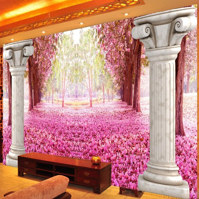 Custom Poster Printing Romantic Cherry 3D European Style Roman ...