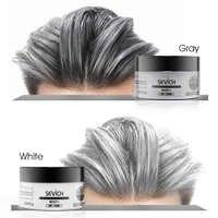 SEVIC Color de pelo cera tinte para el cabello permanente Unisex fuerte sujeción marrón gris colores de pelo crema desechable Pastel dinámico peinados
