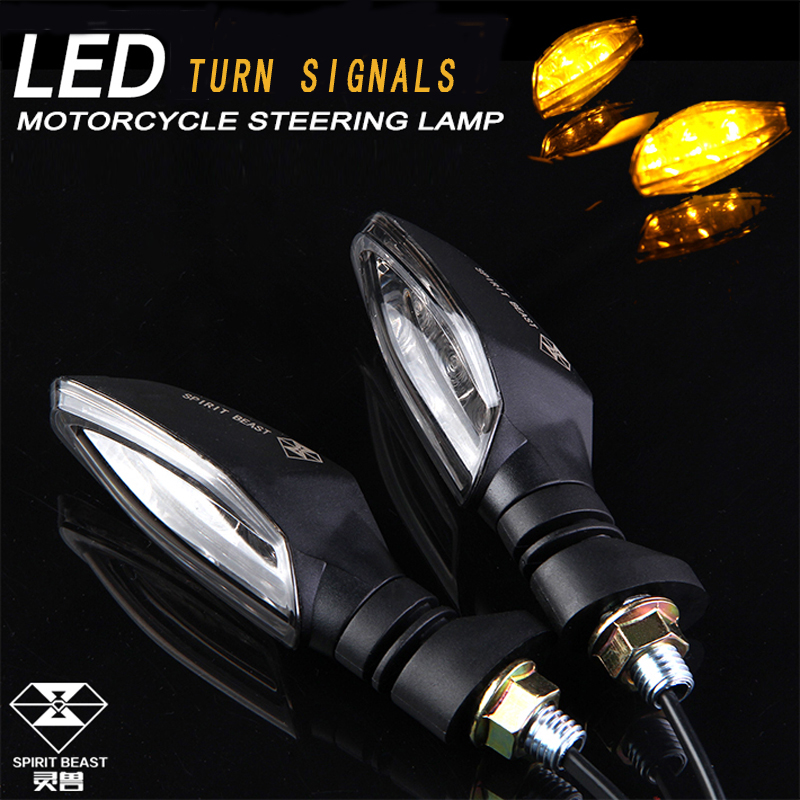 SPIRIT BEAST High Quality Motorcycle Led Turn Signals One Pair For Honda Yamaha Kawasaki Suzuki Scooter Dirt Bike Ktm