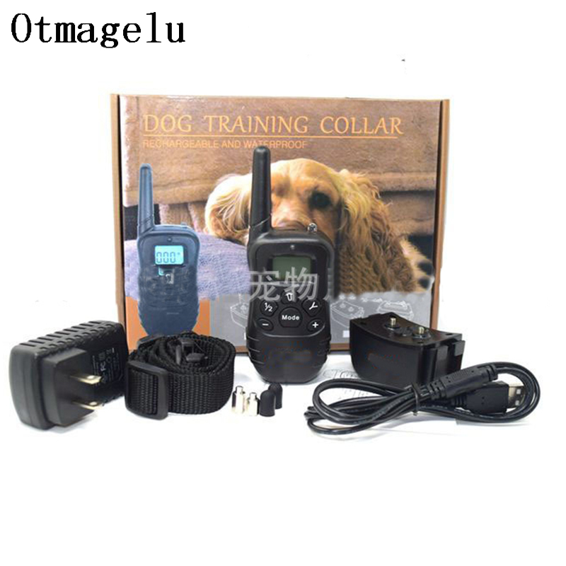 998DR Updated Electronic Dog Training Collar Remote Control Stop barking Rechargeable Pet Training Shock Collar With LCD Display8