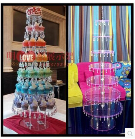 Acrylic Higher Layer 7 Round Turn Sugar Cake Seven Layers Of Fruit Cakes Display Shelf Dessert Wedding Birthday