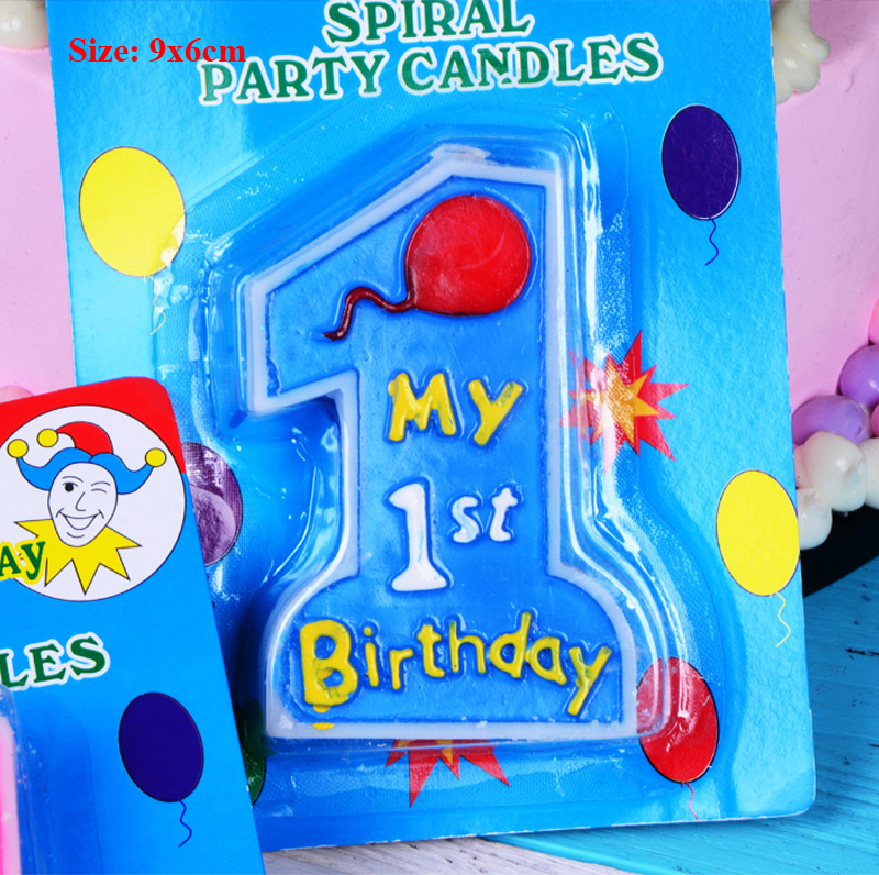 party birthday cake candles decoration party supplies new born baby girl boy first 1st birthday decorations birthday candle in Cake Decorating Supplies from Home Garden