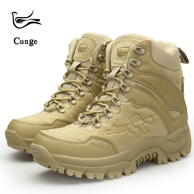 c6f81c6895fef Men Casual Anti-skid Shoes Fashion Army Boots Military Tactical Boots  Outdoor Combat Boots Hiking Snow Boots - aliexpress.com - imall.com