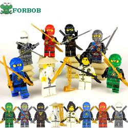 Шт. 8 шт. Совместимость Legoing Ninjago фигурки строительные Конструкторы комплект 2018 Новый Ninjago Мини Рисунок Lloyd Kai Zane Silah Pythor Вечерние