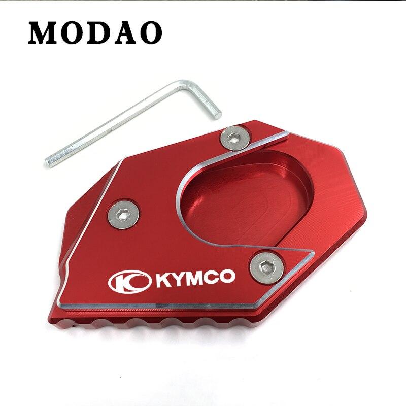 Para kymco centro 200i 300i 350i 300, 350 cnc motocicleta extensão almofada suporte lateral placa de extensão