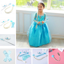 Elsa Dresses For Gilrs Princess Anna Elza Snow Queen Costume Halloween Party Vestidos Fantasia Kids Girl Dress недорого