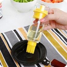 Neue 1 stück silikon Pinsel mit Flasche Für Grill Kochen Backen Pfannkuchen Bbq-werkzeuge Honig Öl Pinsel Küche Zubehör barbacoa