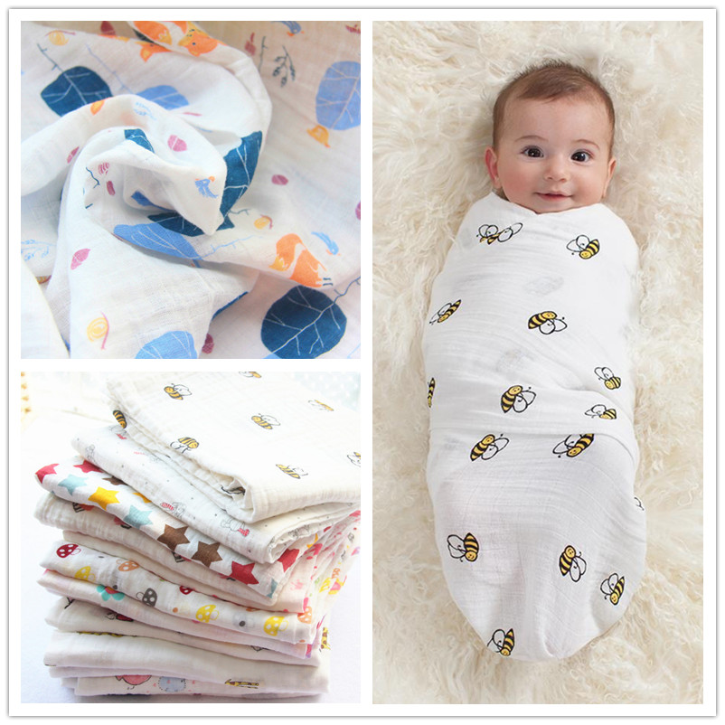 Muslin cotton newborn gauze baby bath towel baby spring and summer air conditioning is thin