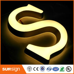 wholesale business signs acrylic storefront led letter sign