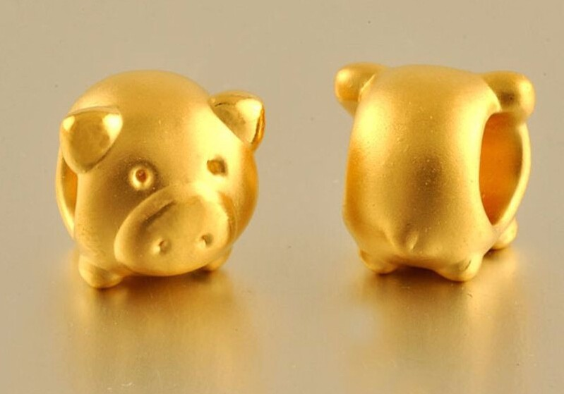 New  Authentic 24K Yellow Gold Pendant / 3D Lucky Lovely Pig/ 1.20g 1pcsNew  Authentic 24K Yellow Gold Pendant / 3D Lucky Lovely Pig/ 1.20g 1pcs