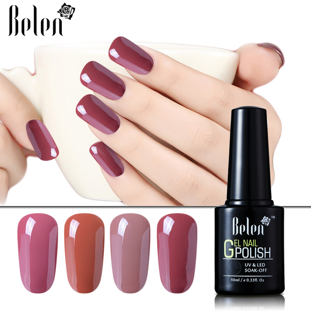 Belen 10ml Nude Color Series UV Gel Nail Polish Vanish Nails Art ...
