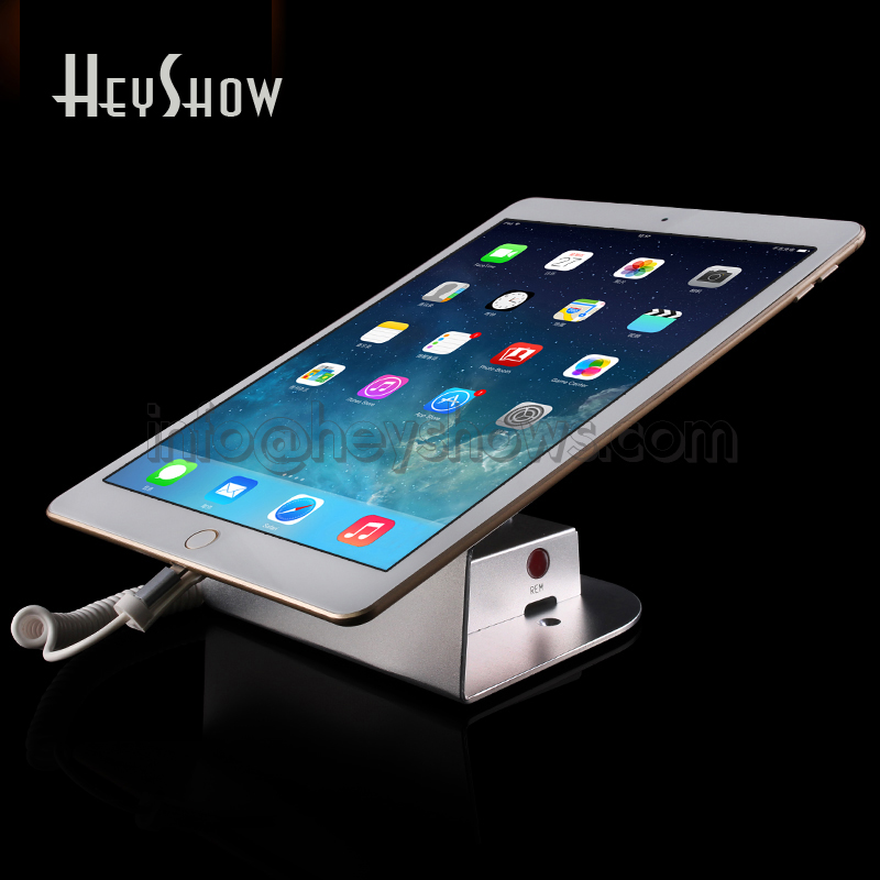 10x Tablet Security Stand ipad Display Alarm Samsung Tablet Anti Theft holder Charging Bracket For Retail Protection In Store retail store security display holder for ipad tablet pc with charging and alarm remote control