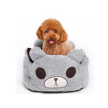 Hot Sale Dog Kennel Cute Bear Pattern Dog House Warm Soft Pet Sleeping Bag Bottom 2 Solid Colors Waterproof Dog Kennel Cat Bed