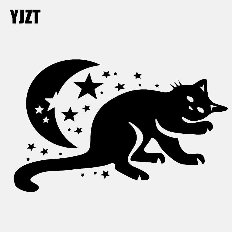Yjzt 15.9cm*8cm Decal Moon And Stars Good Night Vinyl Car Sticker Girl Black/silver C3-0645 Car Stickers Automobiles & Motorcycles