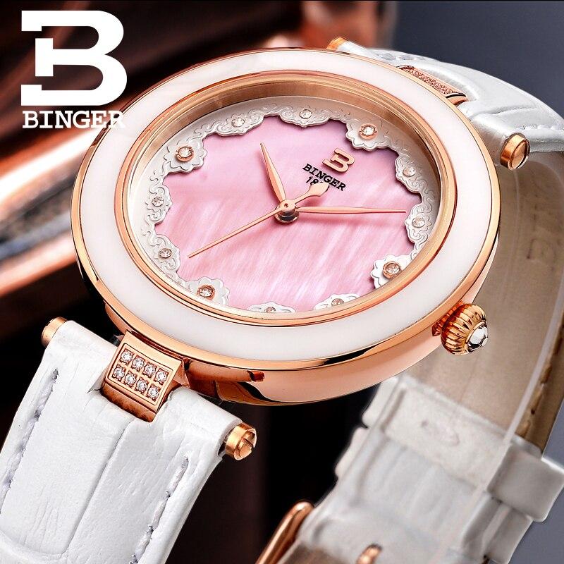 Montres à quartz de mode pour femmes de luxe simple petit cadran femmes robe montre BINGER marque populaire sauvage dames montres cadeaux