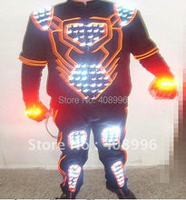LED and EL light up robot suit for performance/ glowing clothes /light up robot