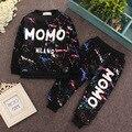 2017 Nueva Primavera 5 Colores Ropa de Bebé Conjuntos Niños Niños Cabritos de las muchachas Se Adapta A Chándales de Algodón Camisa de Manga Larga + Pantalones 2 unids