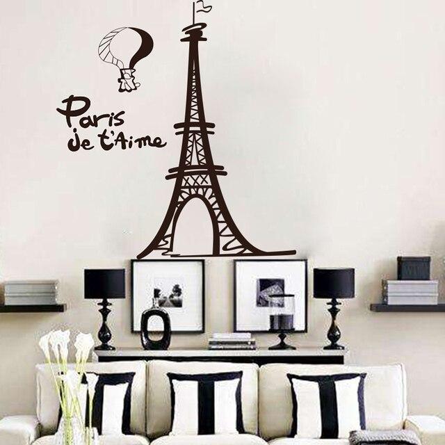 Eiffelturm Wandaufkleber Wohnzimmer Paar Französisch Stadt Turm Wandtattoo  Kinderzimmer Landschaft Kinderzimmer Cut Vinyl Wand Kunst