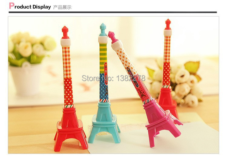 24PCS Kawaii Eiffel Tower pen favor Kids birthday party supply baptism gift baby shower party favors souvenirs