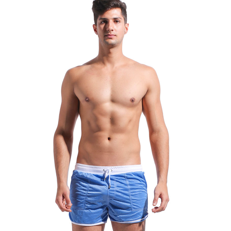 Desmiit Swimwear Men Mesh Breathable Bermuda Surf   Board     Shorts     Short   De Bain Homme Beach Sport Boardshorts Badehosen Herren