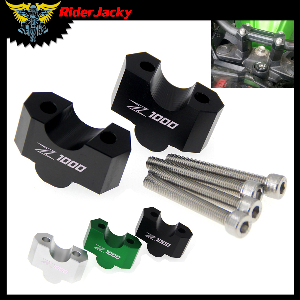 laser Logo Z 1000 Motorcycle HandleBar Riser Handle Bar Mount Clamp Adapter For kawasaki Z1000 2003-2016 2012 2013 2014 2015laser Logo Z 1000 Motorcycle HandleBar Riser Handle Bar Mount Clamp Adapter For kawasaki Z1000 2003-2016 2012 2013 2014 2015