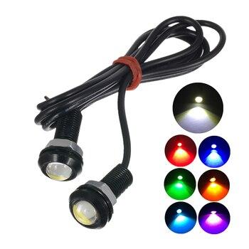1 lámpara de luces de LED tipo ojo de águila para coche DC 12V 9W 18mm Hawkeye Reverse Backup DRL Luz de niebla luces de circulación diurna de coche bombilla de señal