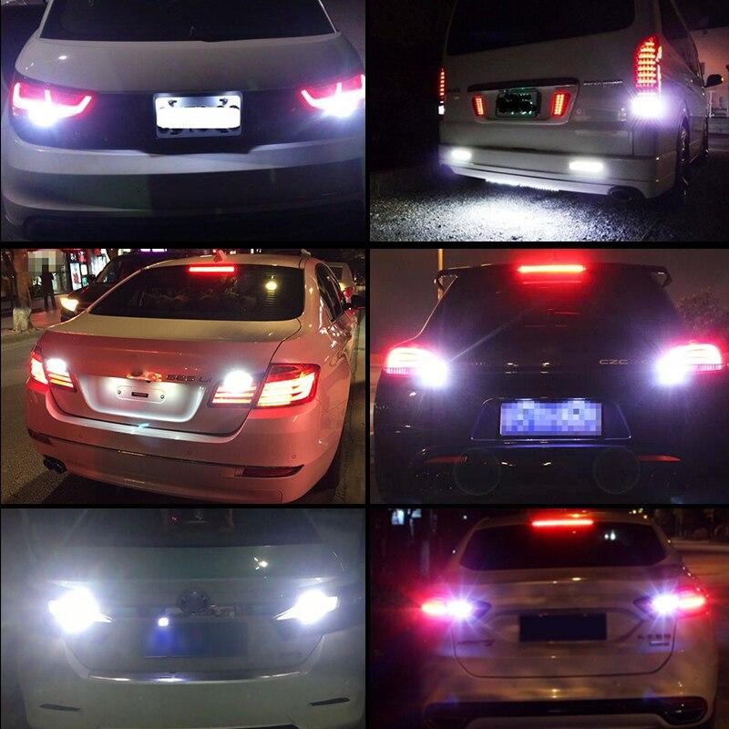 Par 1156 P21W beli Q5 čipi Canbus brez napake Avtomobilska LED - Avtomobilske luči - Fotografija 6