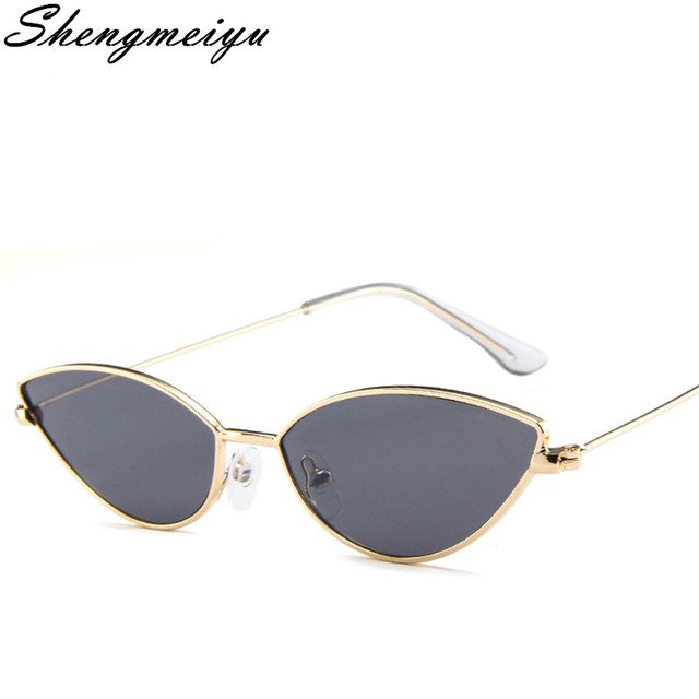 e48d6e12c07 Cute Sexy Cat Eye Sunglasses Women 2018 Summer Retro Small Frame Black Red  Cat Eye Sun Glasses for Women GD001