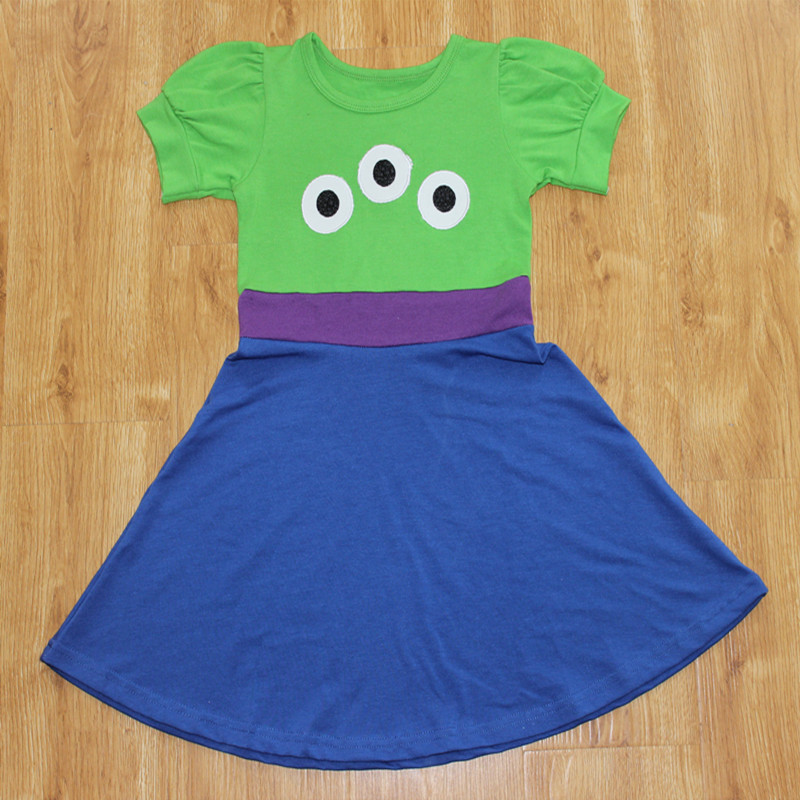 2018 Girls Summer Princess Dress Birthday Gift Toddler Cosply Party Formal Ball Gown Dress Beast Alien Sundress For 1-10Y