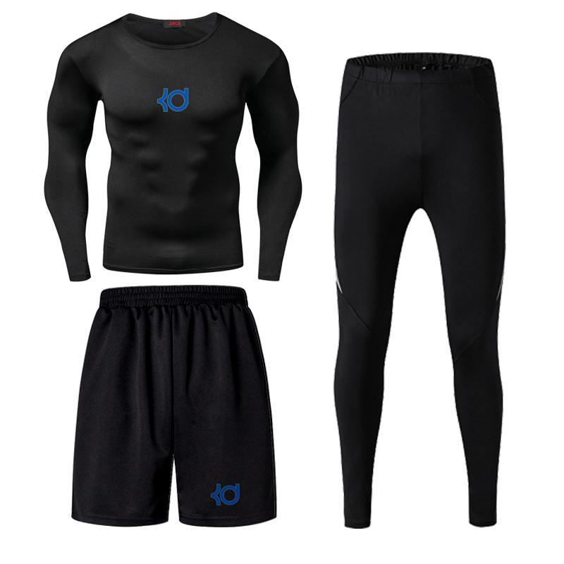 Jordan Kobe James Men Fitness Wear Tights Sportswear Basketball Training Quick Drying Three Running Clothes Gym Compression Sets - 5