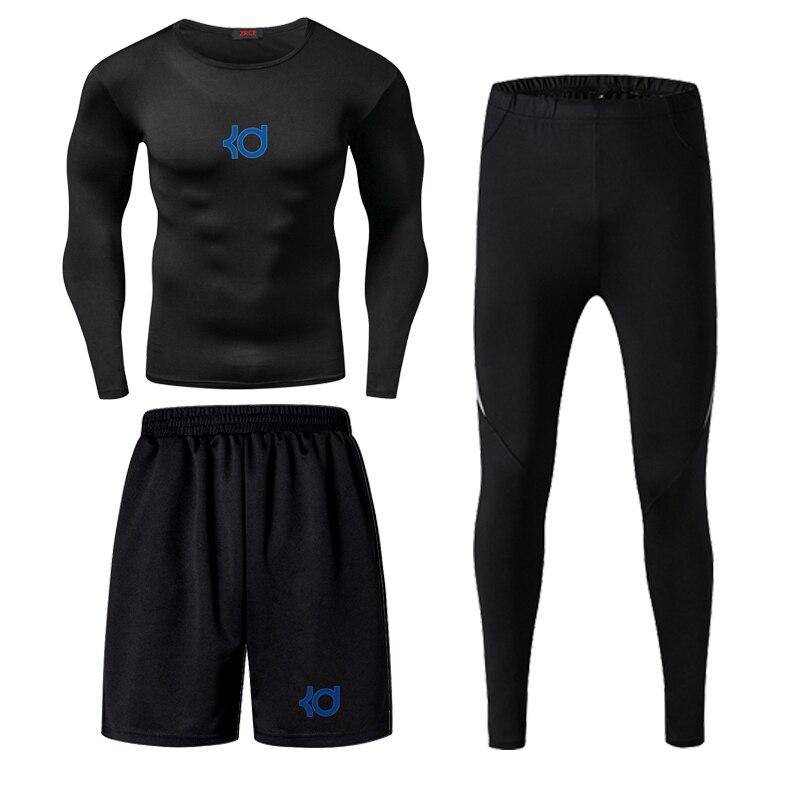Jordan kobe james masculino aptidão wear collants treino de basquete secagem rápida três correndo roupas ginásio compressão conjuntos - 5
