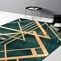 Ретро-светильник  роскошный темно-зеленый золотой коврик для дверей с цифровой печатью  флисовый нескользящий прикроватный кухонный коври...